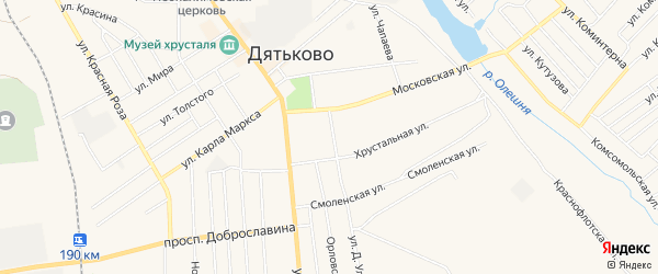 ГСК ГБ в районе дома 4 по ул Д.Ульянова на карте Дятьково с номерами домов