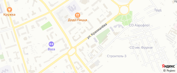 Улица Крахмалева на карте Брянска с номерами домов