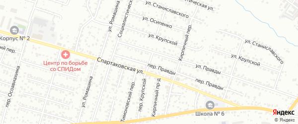 Крупской переулок на карте Брянска с номерами домов