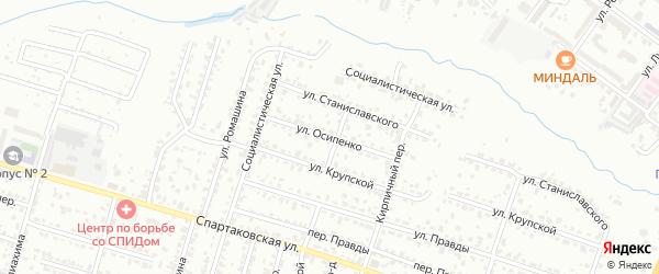 Улица Осипенко на карте Брянска с номерами домов