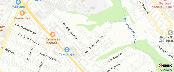 Улица Короленко на карте Брянска с номерами домов