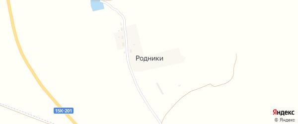 Полевая улица на карте поселка Родники с номерами домов