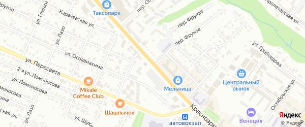 Красноармейская улица на карте Брянска с номерами домов