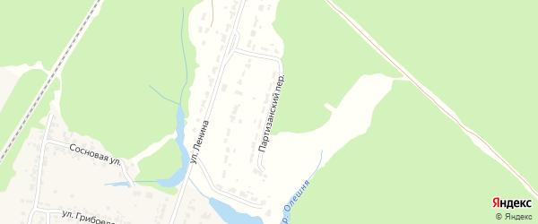 Партизанский переулок на карте Дятьково с номерами домов