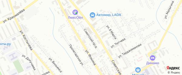 Советский проезд на карте Брянска с номерами домов