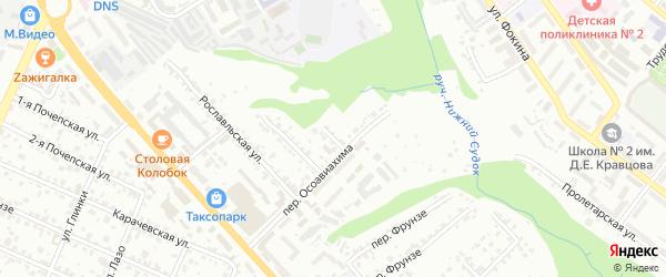 Смоленская улица на карте Брянска с номерами домов