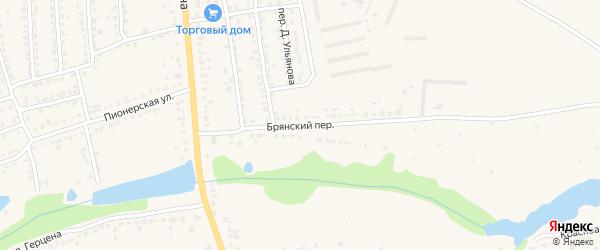 Брянский переулок на карте Дятьково с номерами домов