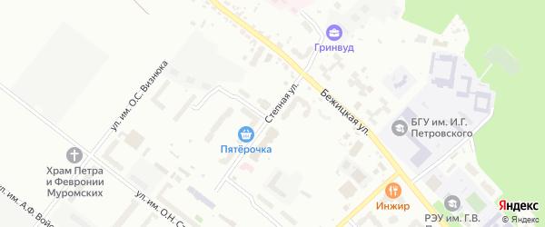 Степная улица на карте Брянска с номерами домов