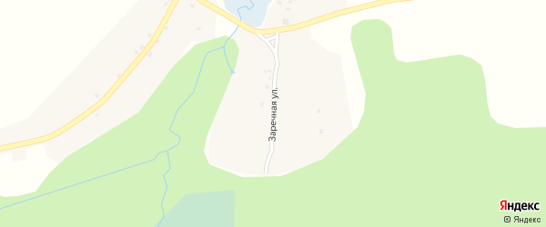 Заречная улица на карте села Холмецкого Хутора с номерами домов