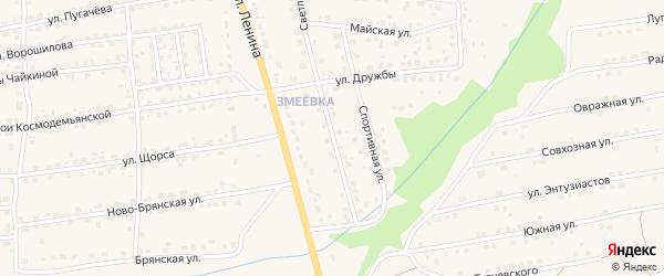 Светлая улица на карте Дятьково с номерами домов