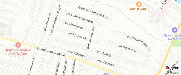 Кирпичный переулок на карте Брянска с номерами домов