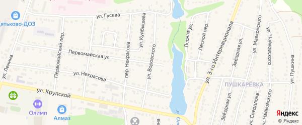 Улица Воровского на карте Дятьково с номерами домов
