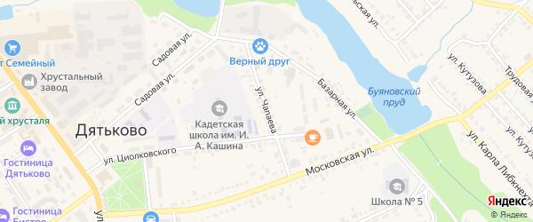 Улица Чапаева на карте Дятьково с номерами домов