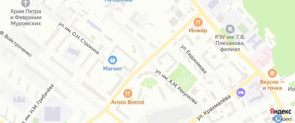 Улица им А.Ф.Войстроченко на карте Брянска с номерами домов