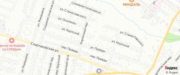 Улица Крупской на карте Брянска с номерами домов