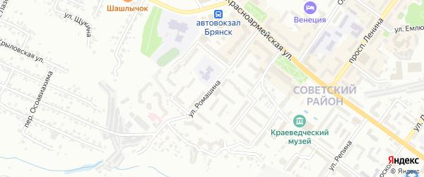 Улица Ромашина на карте Брянска с номерами домов
