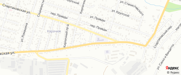Карачижский проезд на карте Брянска с номерами домов