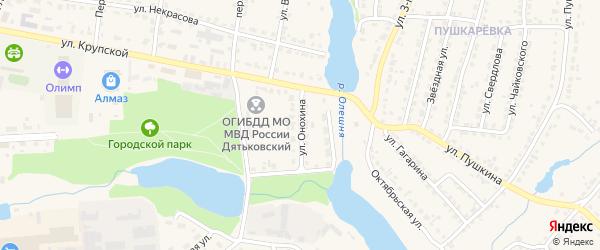 Улица Онохина на карте Дятьково с номерами домов