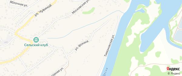 Тимоновская улица на карте села Супонево с номерами домов