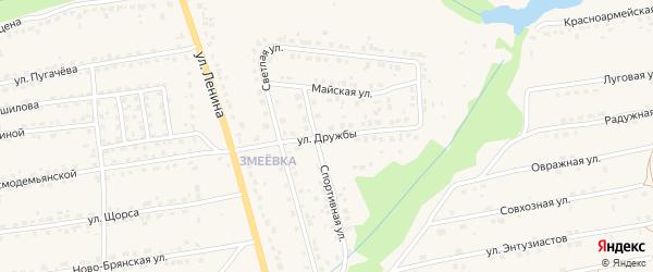 Улица Дружбы на карте Дятьково с номерами домов