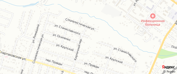 Улица Станиславского на карте Брянска с номерами домов