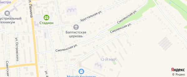 Смоленская улица на карте Дятьково с номерами домов