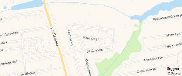Майская улица на карте Дятьково с номерами домов