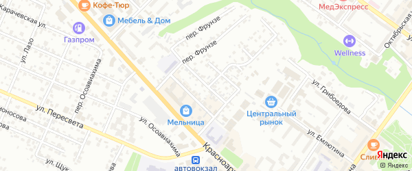 2-й Красноармейский переулок на карте Брянска с номерами домов