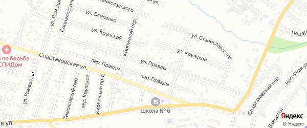 Улица Правды на карте Брянска с номерами домов