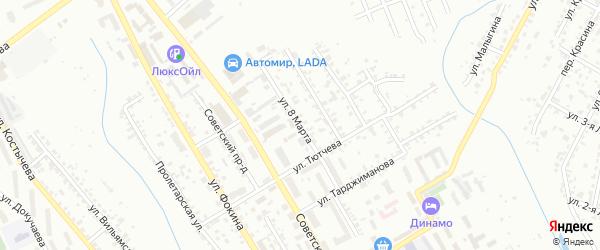 Улица 8 Марта на карте Брянска с номерами домов