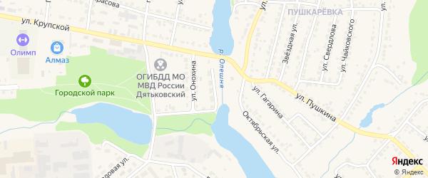 Переулок Онохина на карте Дятьково с номерами домов