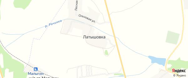 Карта деревни Латышовки в Брянской области с улицами и номерами домов