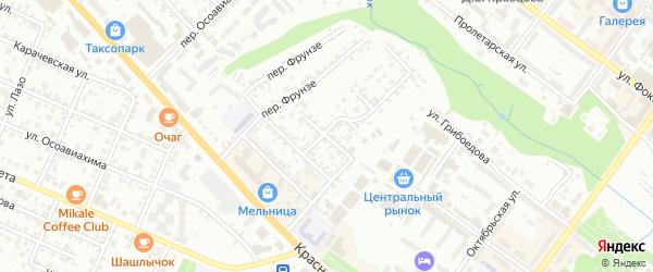 Верхний переулок на карте Брянска с номерами домов