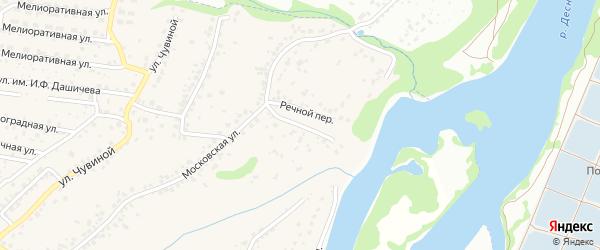 Речной переулок на карте села Супонево с номерами домов