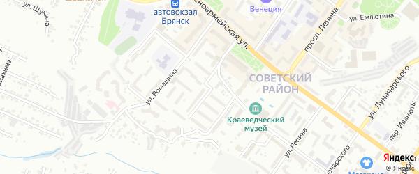 Улица Любезного на карте Брянска с номерами домов