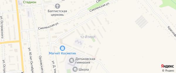 12-й микрорайон на карте Дятьково с номерами домов