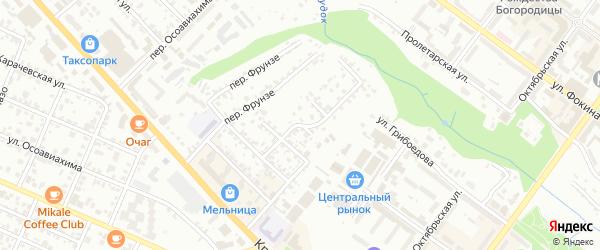 Средний переулок на карте Брянска с номерами домов
