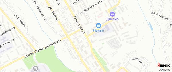 Советская улица на карте Брянска с номерами домов