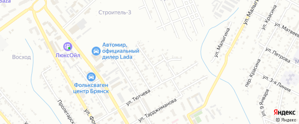 2-я Ново-Топальская улица на карте Брянска с номерами домов