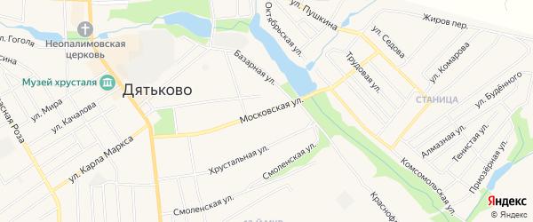 ГСК ГО в районе ул Московская на карте Дятьково с номерами домов