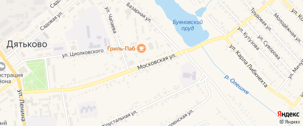 Московская улица на карте Дятьково с номерами домов
