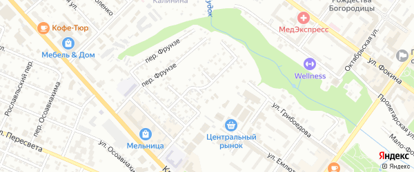 3-й Красноармейский переулок на карте Брянска с номерами домов