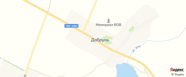 Проселочная улица на карте поселка Добруни с номерами домов