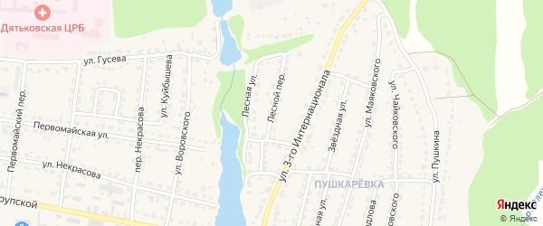 Лесной переулок на карте Дятьково с номерами домов