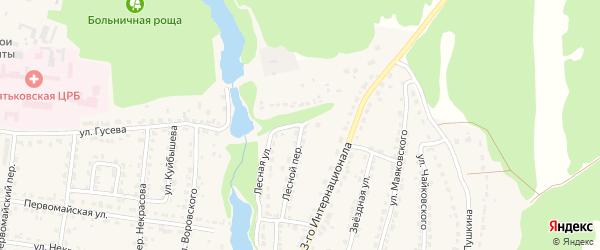 Лесная улица на карте Дятьково с номерами домов