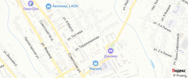 Улица Тарджиманова на карте Брянска с номерами домов
