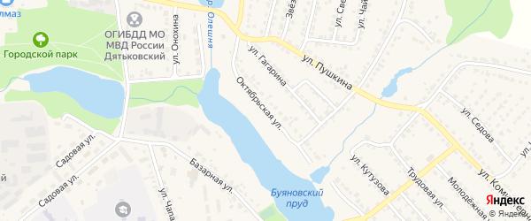 Октябрьская улица на карте Дятьково с номерами домов