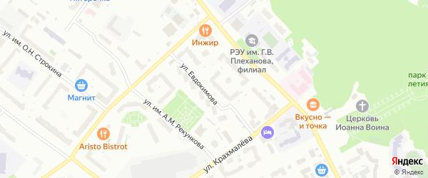 Улица Евдокимова на карте Брянска с номерами домов