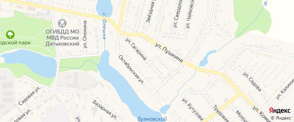 Улица Гагарина на карте Дятьково с номерами домов