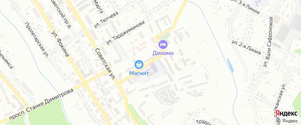 2-й Советский переулок на карте Брянска с номерами домов